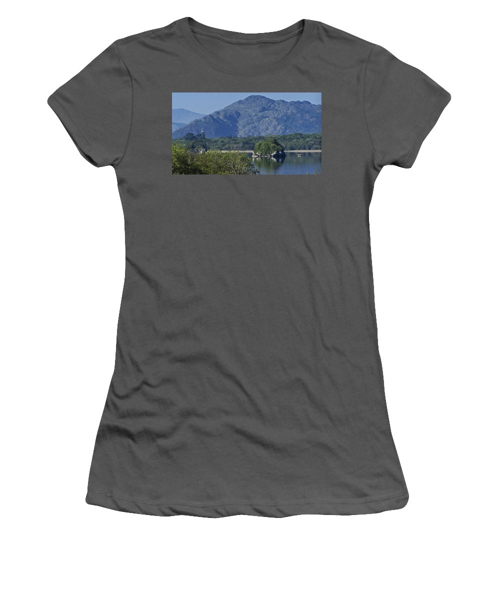 Irish Women's T-Shirt (Athletic Fit) featuring the photograph Loch Leanne Killarney Ireland by Teresa Mucha