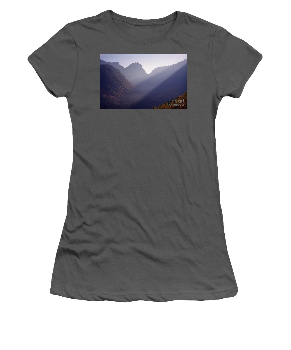 Mountains Women's T-Shirt (Athletic Fit) featuring the photograph Logan Pass by Richard Rizzo