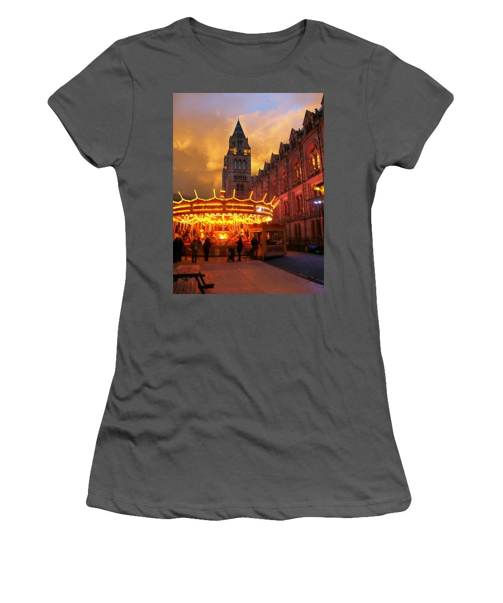 Women's T-Shirt (Athletic Fit) featuring the photograph London Museum At Night by Munir Alawi