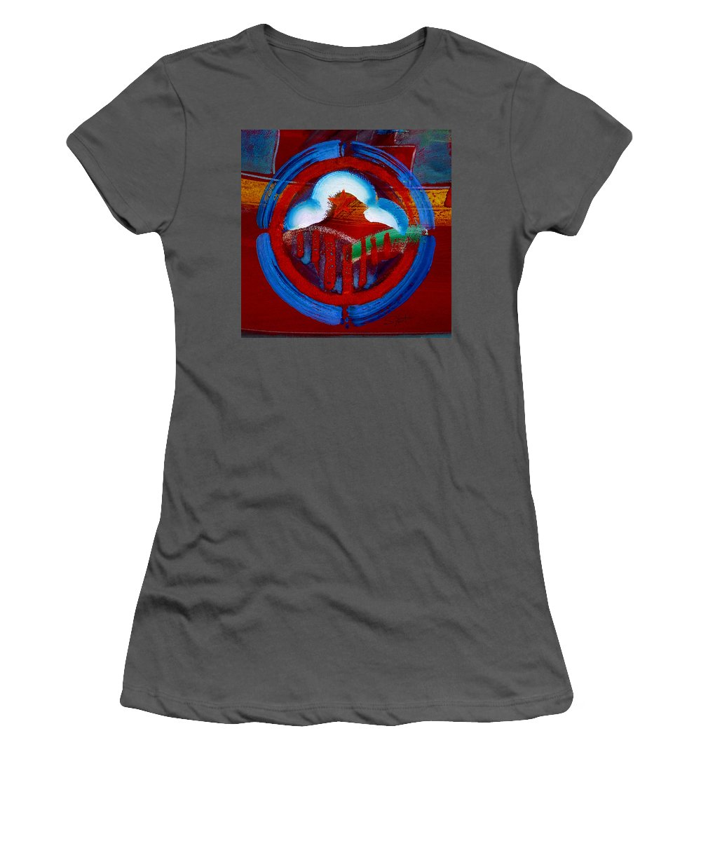 Star Women's T-Shirt (Athletic Fit) featuring the painting Lone Star State by Charles Stuart