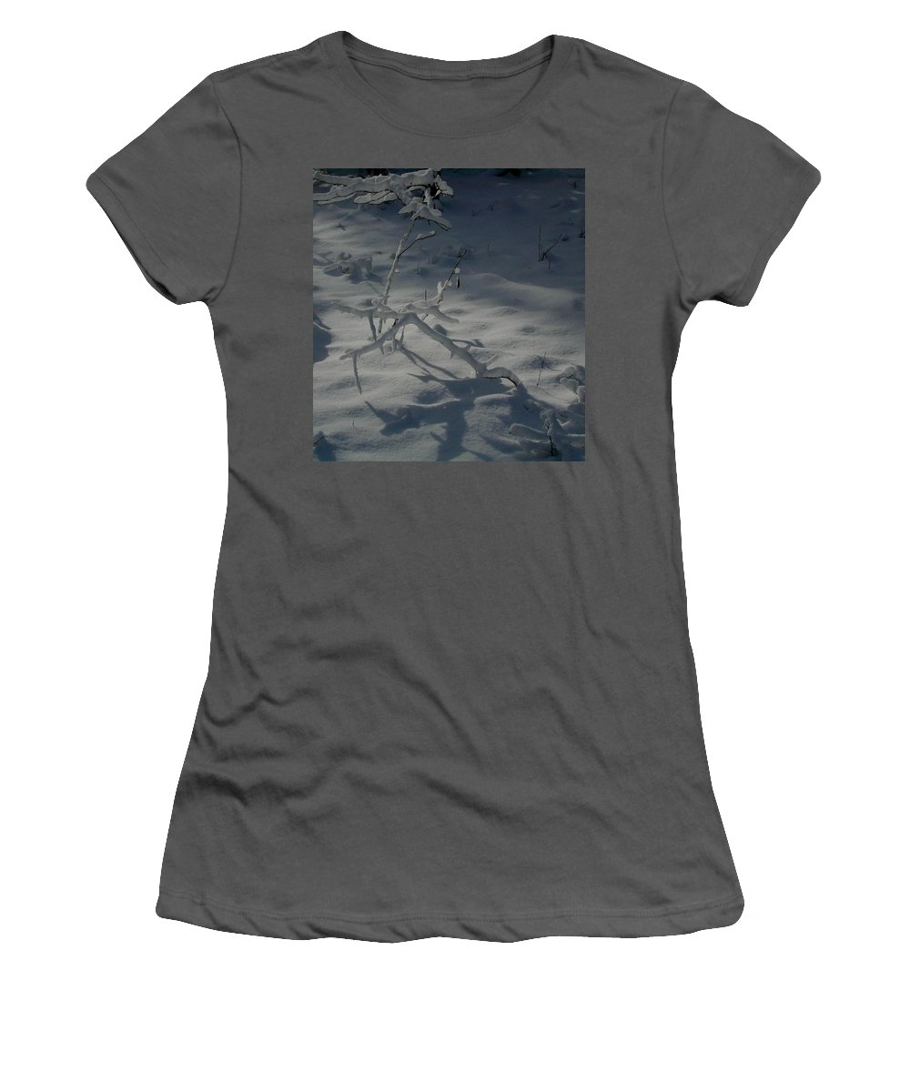 Loneliness Women's T-Shirt (Athletic Fit) featuring the photograph Loneliness In The Cold by Douglas Barnett