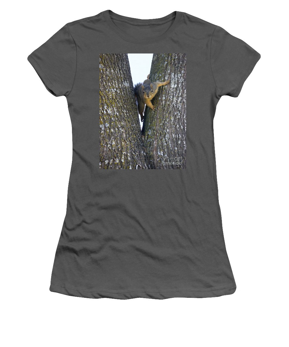 Nature Women's T-Shirt (Athletic Fit) featuring the photograph Looking Back by Lucyna A M Green