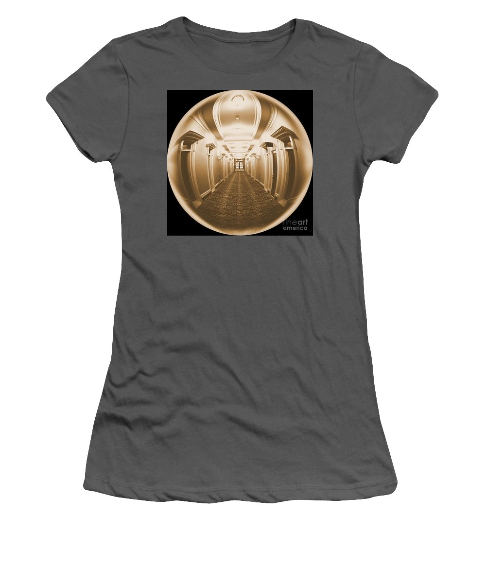 Looking Out Women's T-Shirt (Athletic Fit) featuring the photograph Looking Out by Carol Groenen