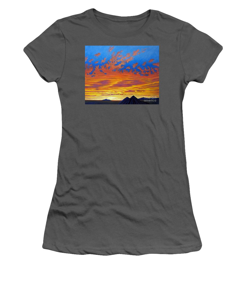 Landscape Women's T-Shirt (Athletic Fit) featuring the painting Looking To The Southwest by Brian Commerford