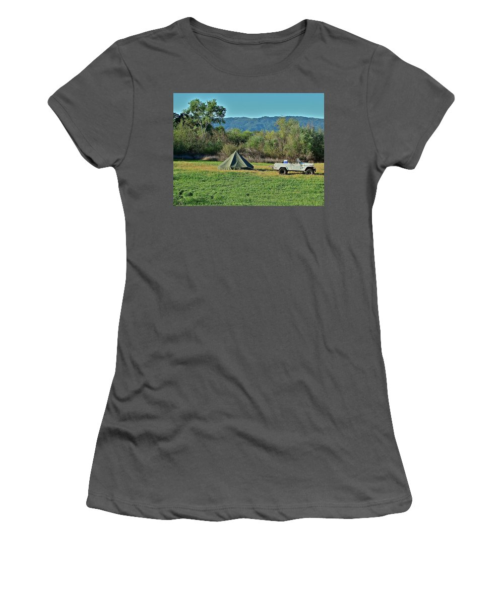 Country Women's T-Shirt (Athletic Fit) featuring the photograph Looks Like Fun by Diana Hatcher