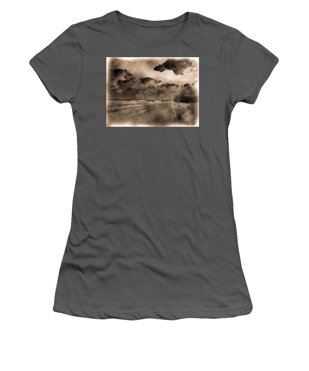 Lauren Radke Women's T-Shirt (Athletic Fit) featuring the photograph Lost by Lauren Radke
