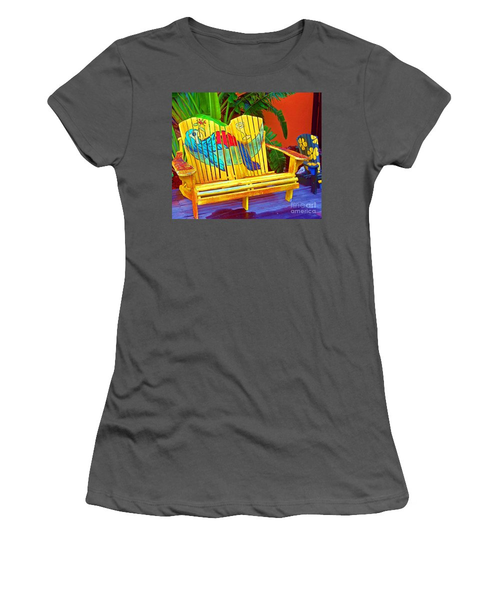 Tropical Women's T-Shirt (Athletic Fit) featuring the photograph Lost Shaker Of Salt 2 by Debbi Granruth