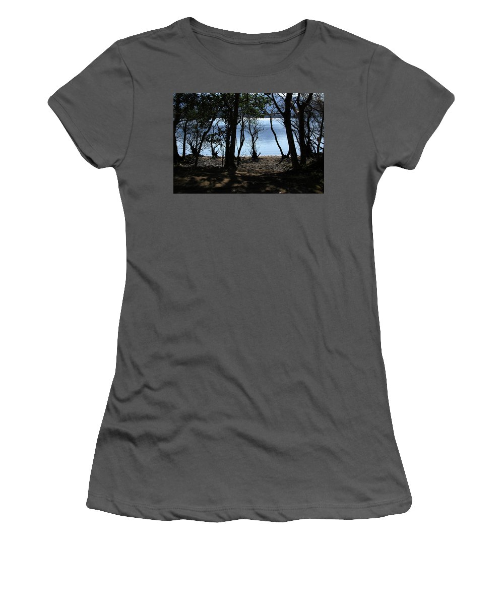 Ireland Women's T-Shirt (Athletic Fit) featuring the photograph Lough Leane Through The Woods by Aidan Moran
