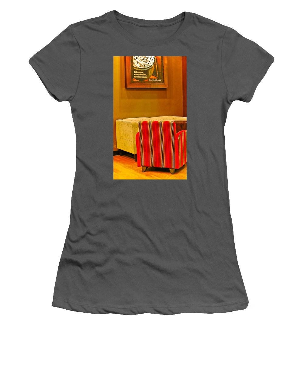 Women's T-Shirt (Athletic Fit) featuring the photograph Lounge by Charuhas Images
