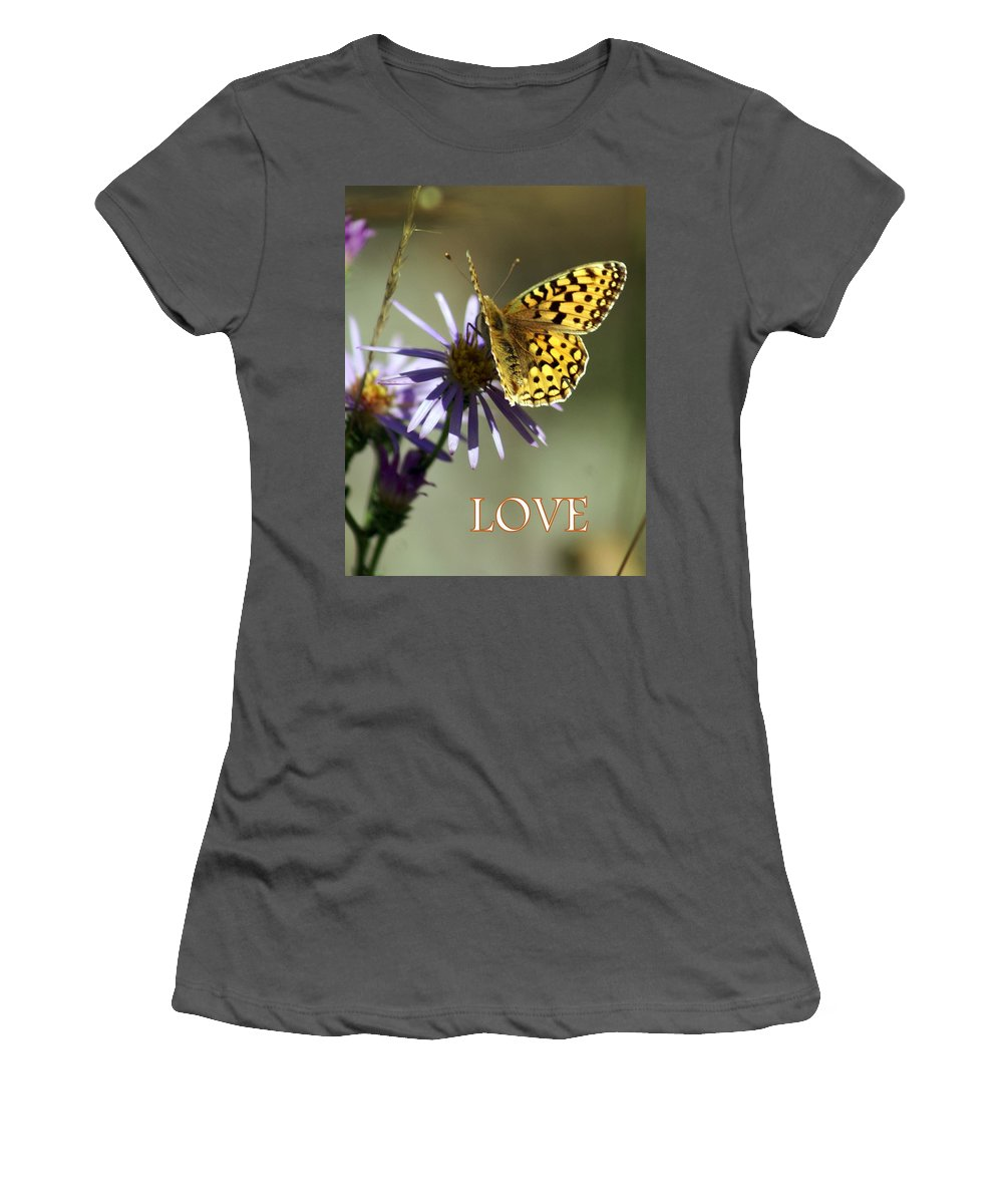 Love Women's T-Shirt (Athletic Fit) featuring the greeting card Love 1 by Marty Koch