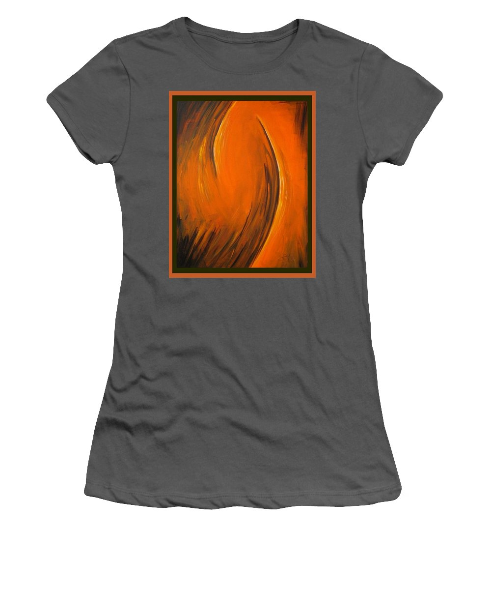 Abstraction Women's T-Shirt (Athletic Fit) featuring the painting Love by Dragica Micki Fortuna
