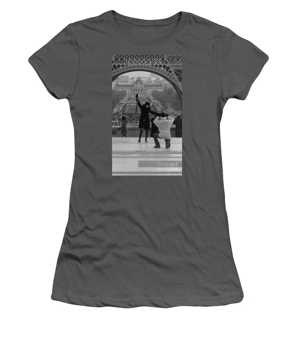 Paris Women's T-Shirt (Athletic Fit) featuring the photograph Love by Jo Hoden
