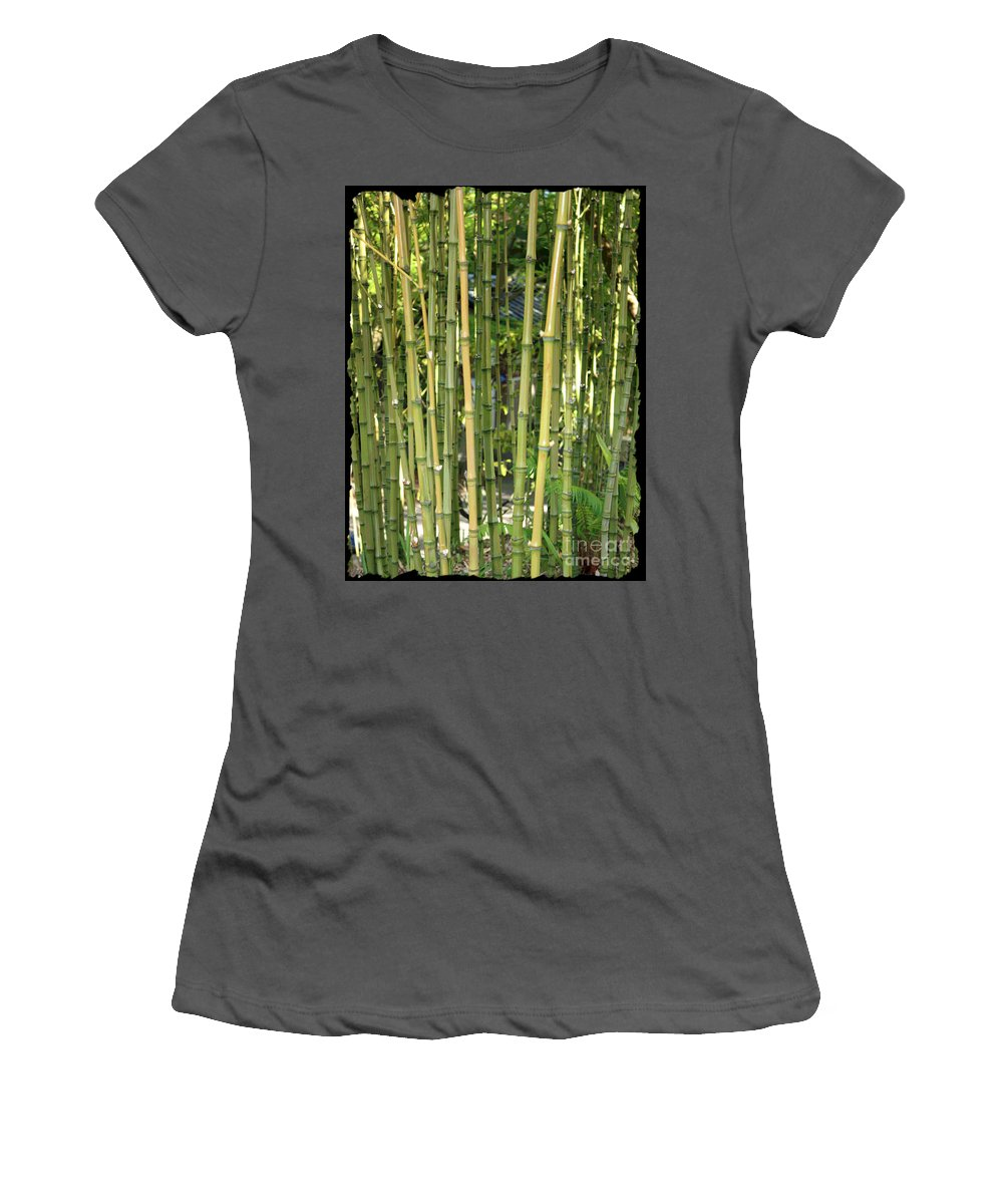 Bamboo Women's T-Shirt (Athletic Fit) featuring the photograph Lucky Bamboo by Carol Groenen