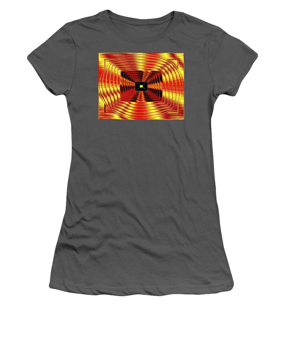 Abstract Women's T-Shirt (Athletic Fit) featuring the digital art Luminous Energy 12 by Will Borden