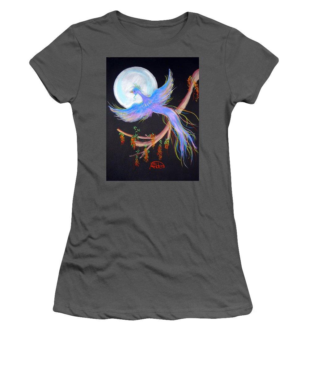 Luna Women's T-Shirt (Athletic Fit) featuring the pastel Luna Phoenix by Jo Hoden
