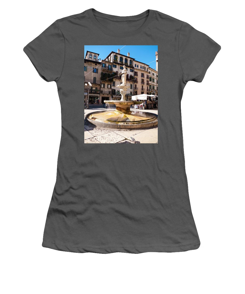 Verona Women's T-Shirt (Athletic Fit) featuring the photograph Madonna Verona by Rae Tucker