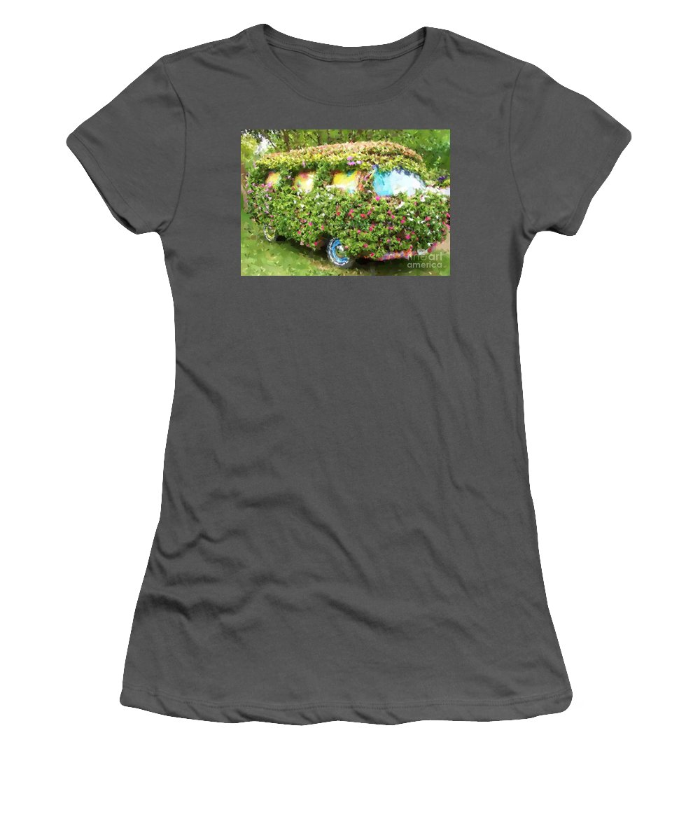 Volkswagen Women's T-Shirt (Athletic Fit) featuring the photograph Magic Bus by Debbi Granruth