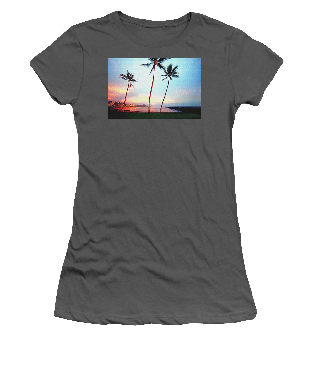 Hawaii Women's T-Shirt (Athletic Fit) featuring the photograph Magic Island Canvas by Kevin Smith