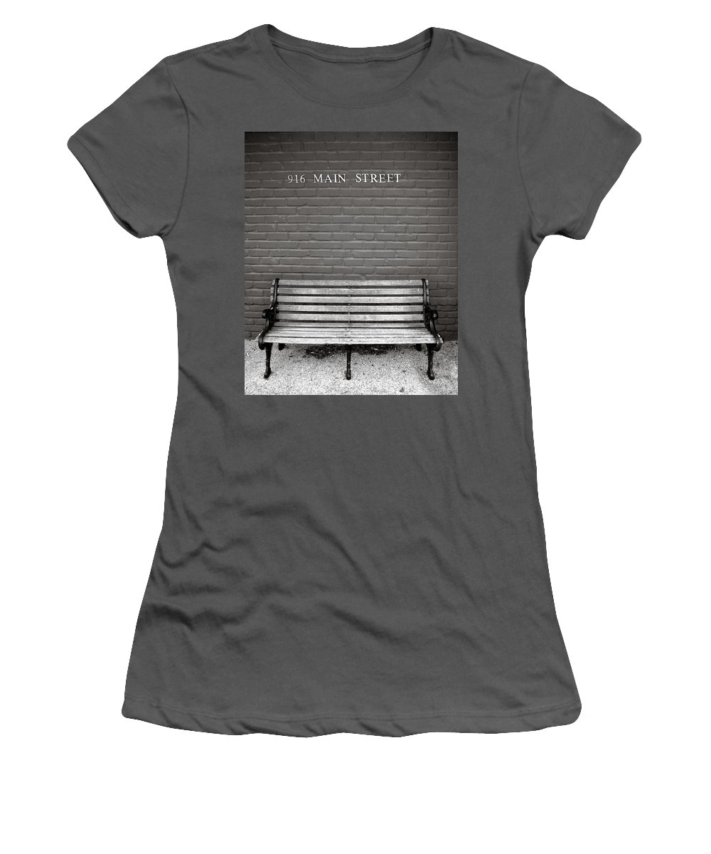 Americana Women's T-Shirt (Athletic Fit) featuring the photograph Main Street Usa by Marilyn Hunt