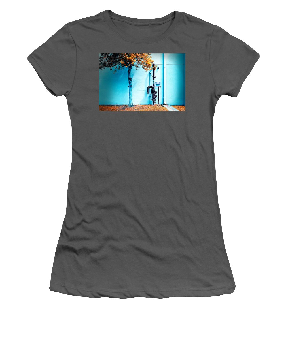 Grunge Women's T-Shirt (Athletic Fit) featuring the photograph Mall Pipe by Steven Hlavac