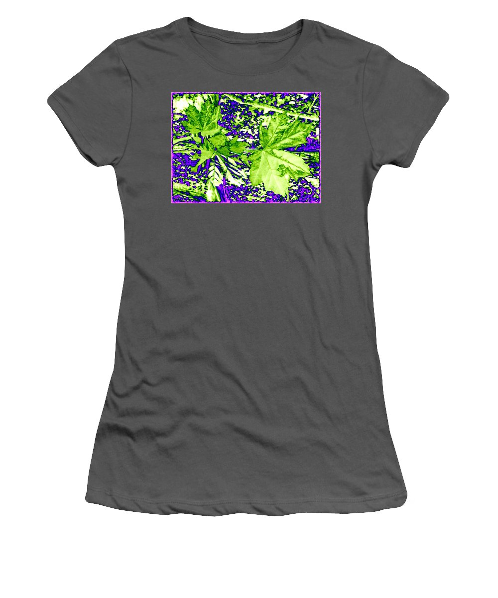 Maple Leaves Women's T-Shirt (Athletic Fit) featuring the digital art Maple Mania 19 by Will Borden