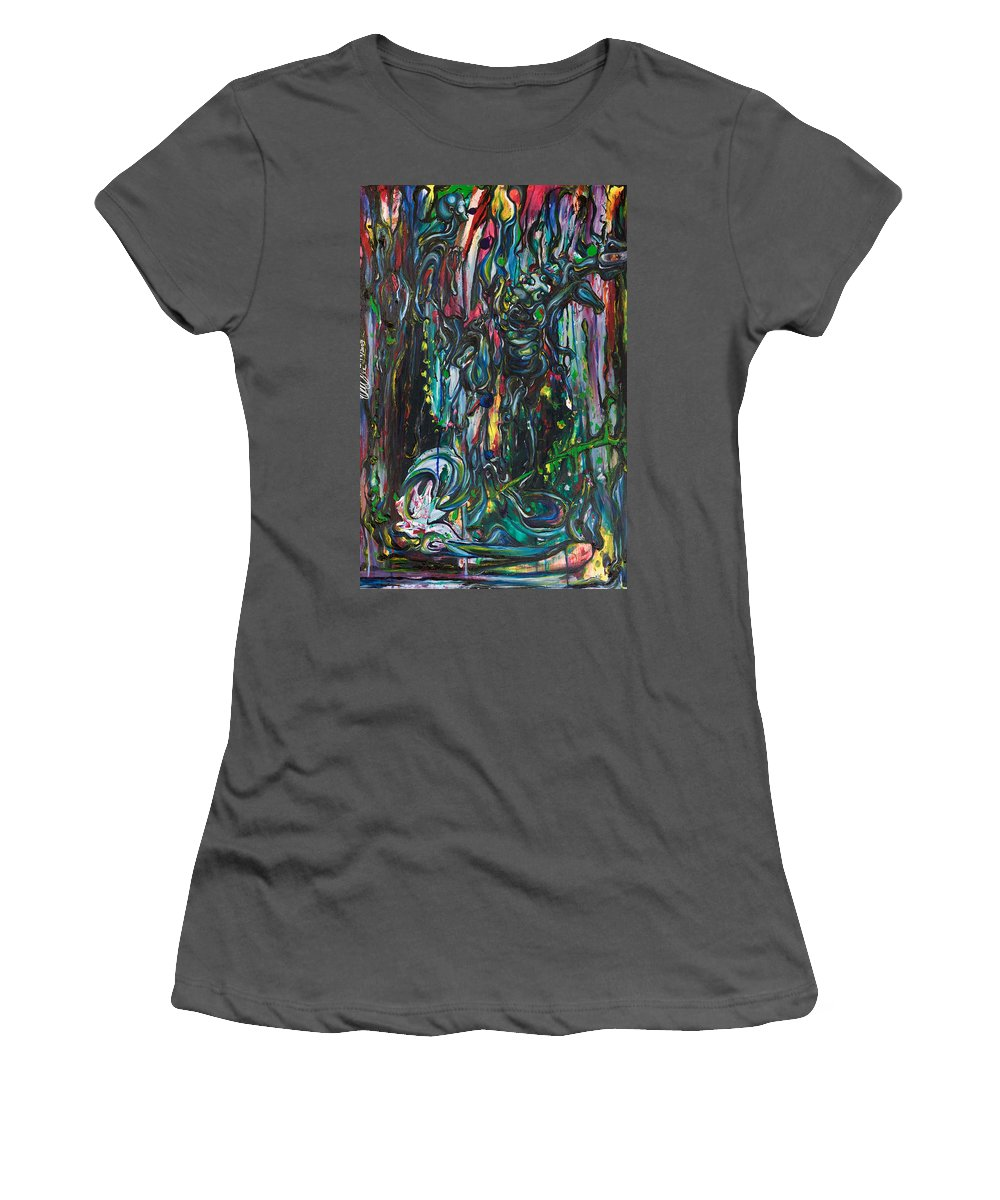 Surreal Women's T-Shirt (Athletic Fit) featuring the painting March Into The Sea by Sheridan Furrer