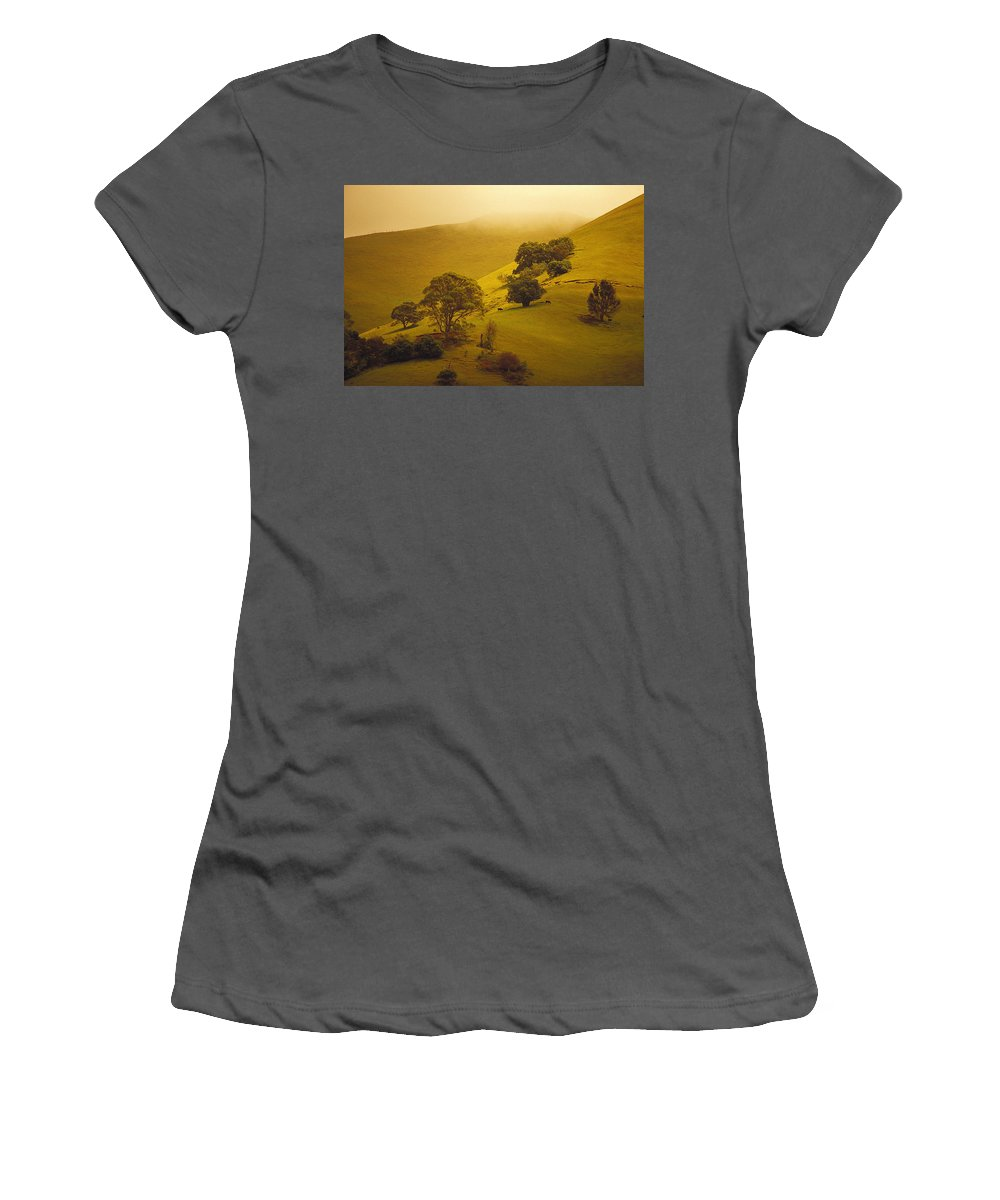 Above Women's T-Shirt (Athletic Fit) featuring the photograph Maui Ulupalakua Ranch by Ron Dahlquist - Printscapes