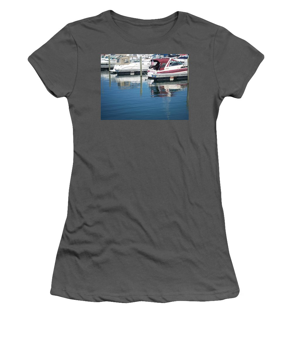 Mckinley Marina Women's T-Shirt (Athletic Fit) featuring the photograph Mckinley Marina 1 by Anita Burgermeister