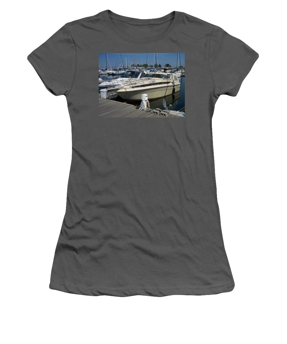 Mckinley Marina Women's T-Shirt (Athletic Fit) featuring the photograph Mckinley Marina 7 by Anita Burgermeister