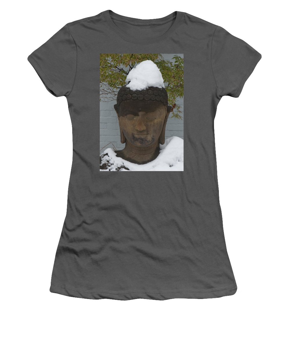 Meditation. Budda Women's T-Shirt (Athletic Fit) featuring the photograph Meditation by Steven Natanson