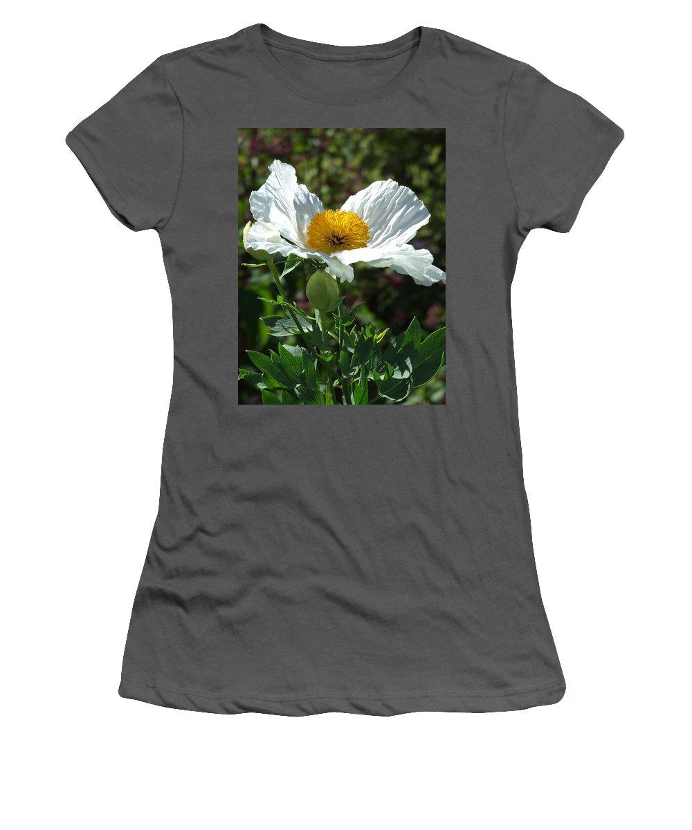 Poppy Women's T-Shirt (Athletic Fit) featuring the photograph Mega-poppy by Bob Kemp