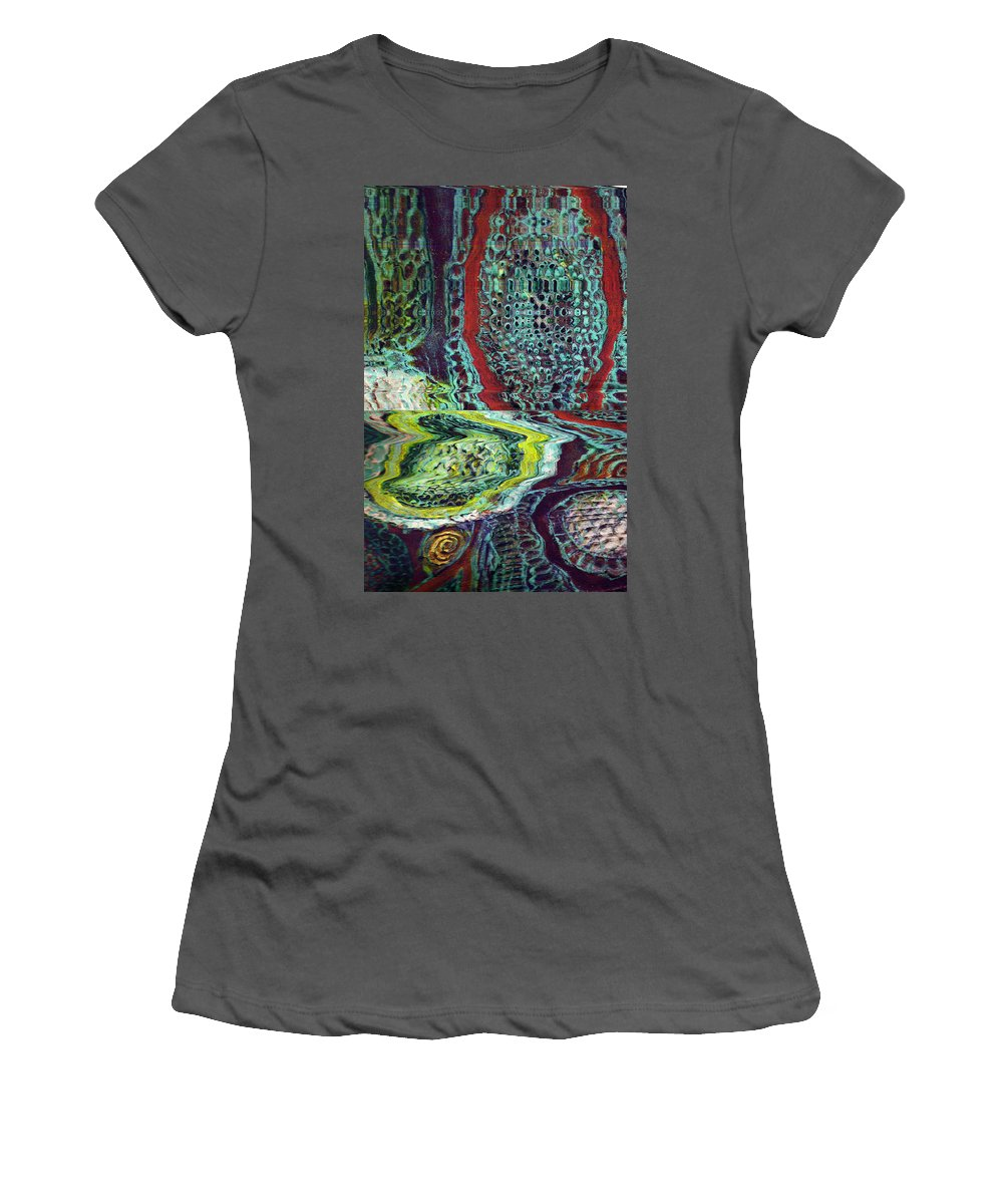 Abstract Women's T-Shirt (Athletic Fit) featuring the painting Melting by Wayne Potrafka