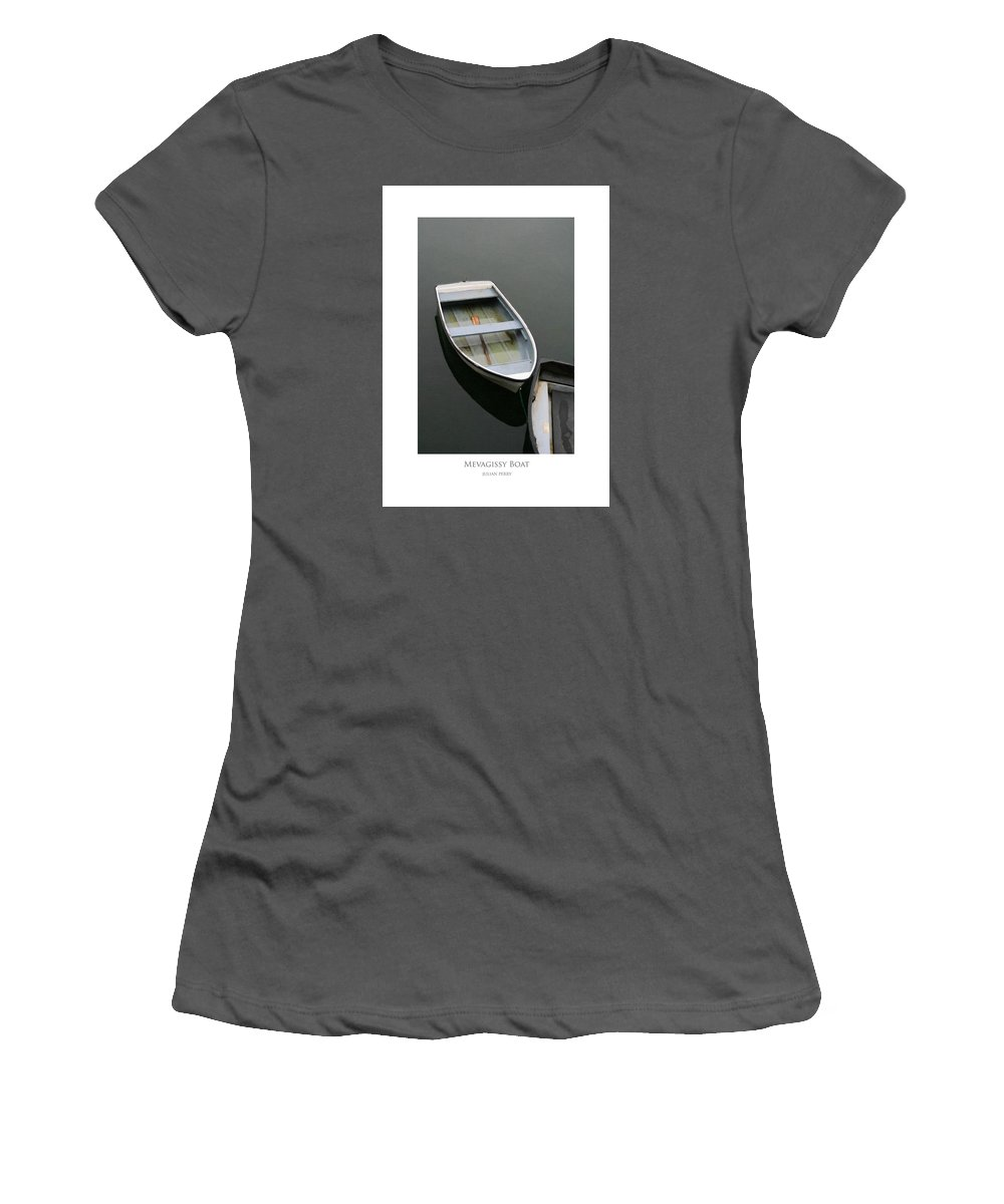Beautiful Women's T-Shirt (Athletic Fit) featuring the digital art Mevagissy Boat by Julian Perry