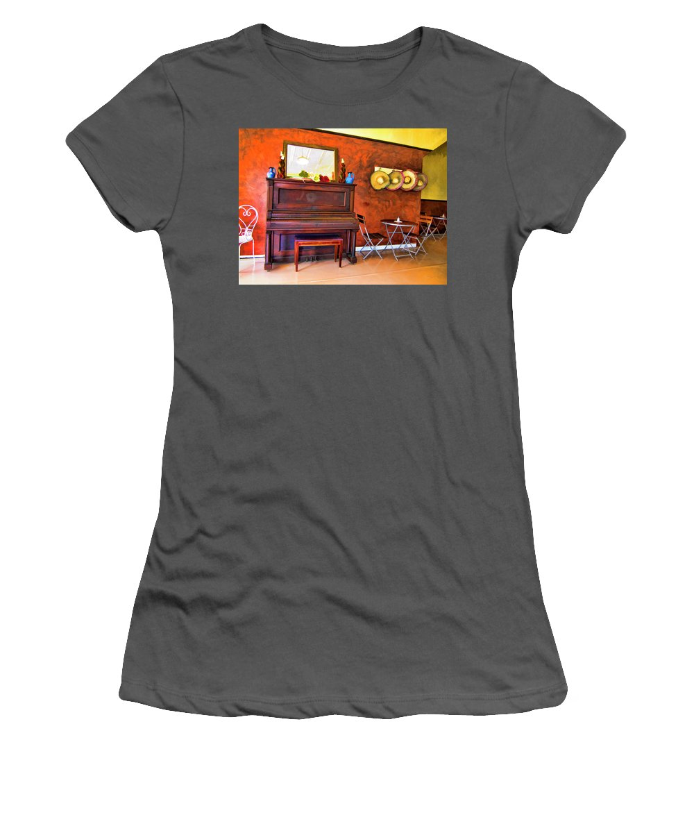 Mexican Cafe Women's T-Shirt (Athletic Fit) featuring the photograph Mexican Cafe by Douglas Barnard
