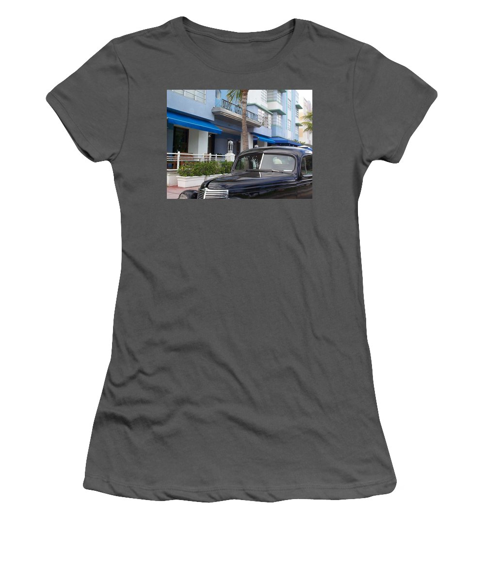 Charity Women's T-Shirt (Athletic Fit) featuring the photograph Miami Beach by Mary-Lee Sanders