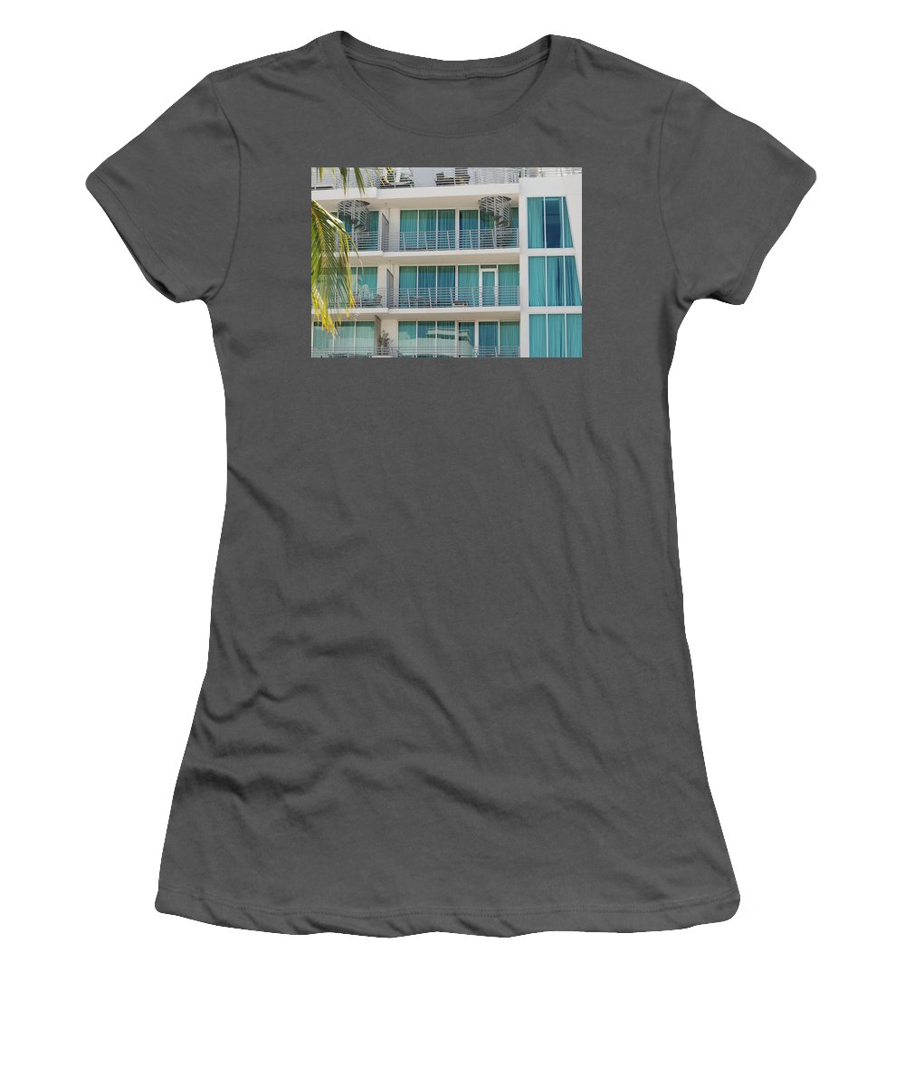 Architecture Women's T-Shirt (Athletic Fit) featuring the photograph Miami Vice by Rob Hans