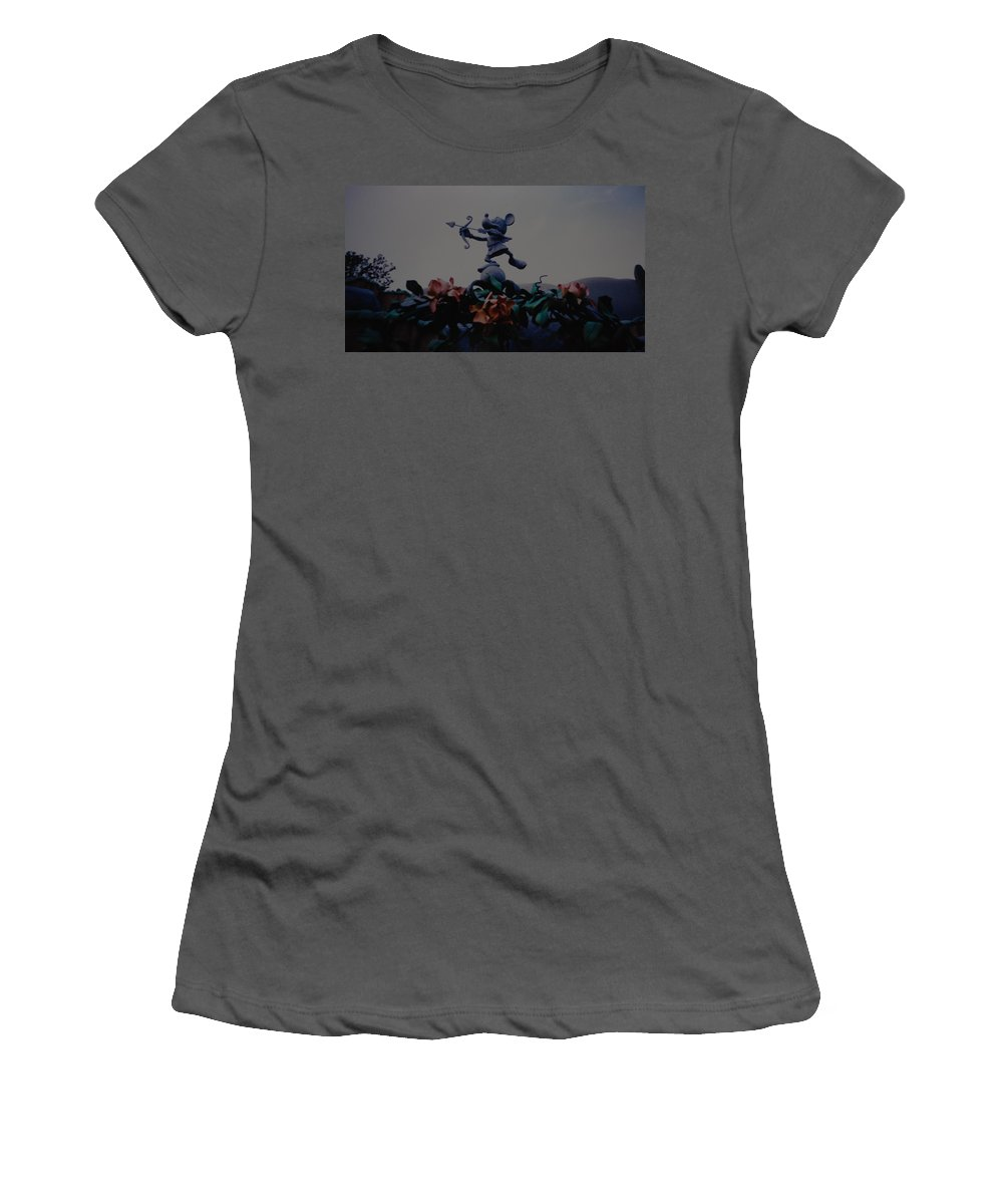 Micky Mouse Women's T-Shirt (Athletic Fit) featuring the photograph Mickey Mouse by Rob Hans