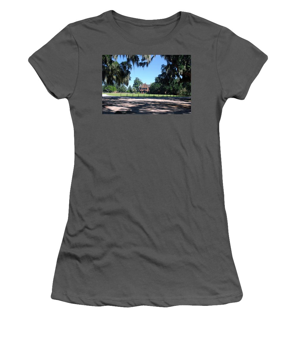 Photography Women's T-Shirt (Athletic Fit) featuring the photograph Middleton Plantation Charleston Sc by Susanne Van Hulst