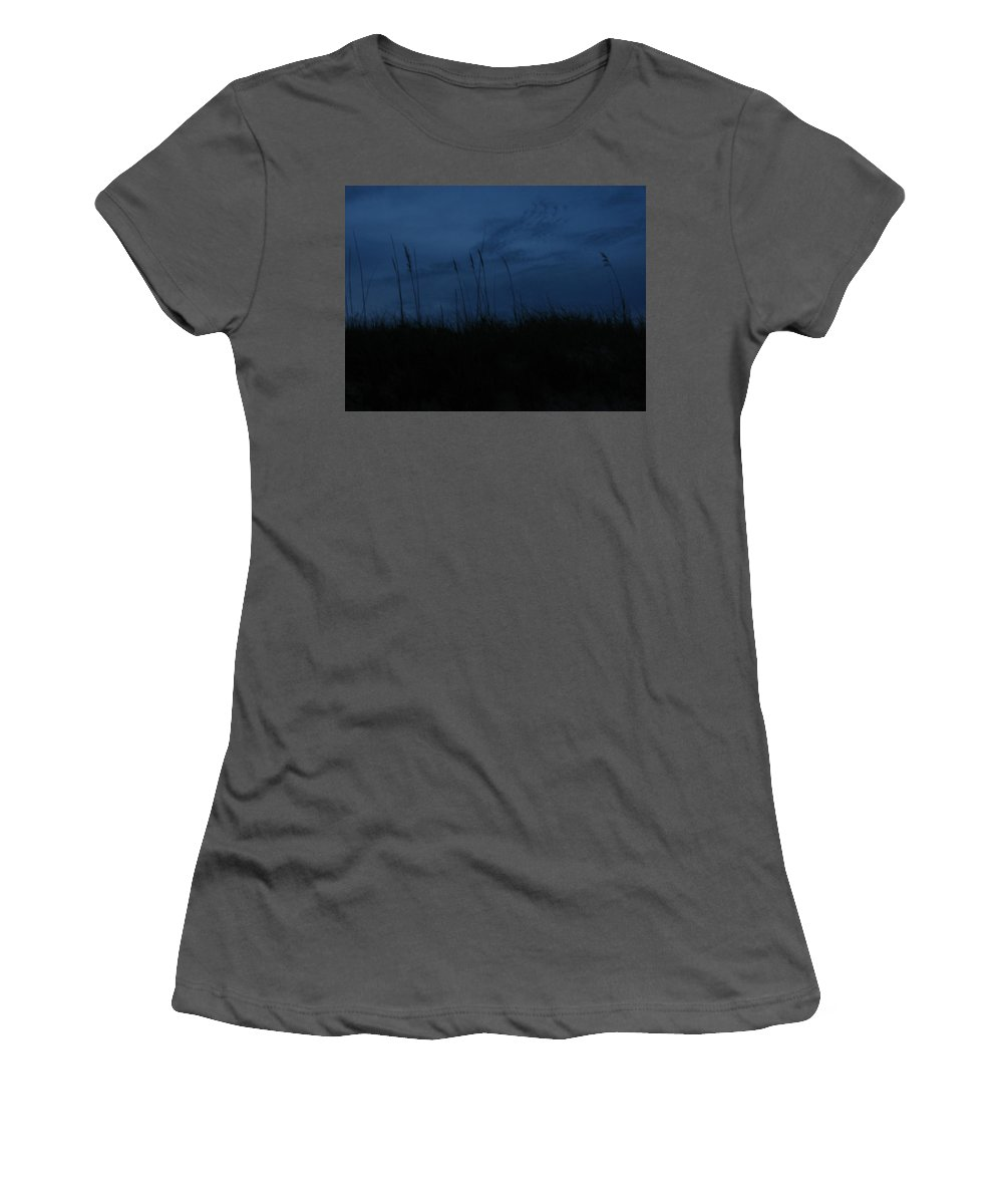 Women's T-Shirt (Athletic Fit) featuring the photograph Midnight Motion 2 by Stacey May