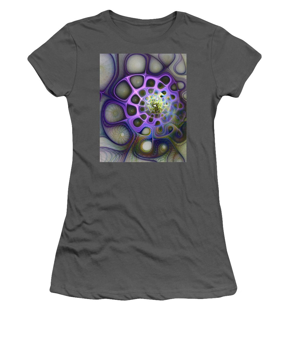 Digital Art Women's T-Shirt (Athletic Fit) featuring the digital art Mindscapes by Amanda Moore