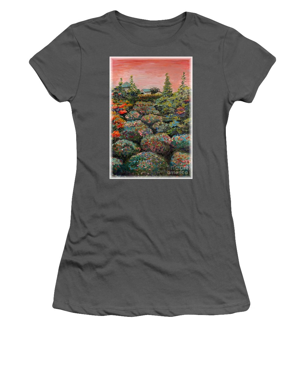 Minnesota Women's T-Shirt (Athletic Fit) featuring the painting Minnesota Memories by Nadine Rippelmeyer