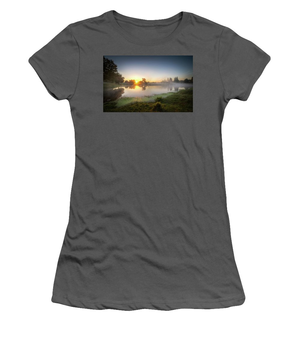 Morning Women's T-Shirt (Athletic Fit) featuring the photograph Mists Of The Morning by Ronald Kotinsky