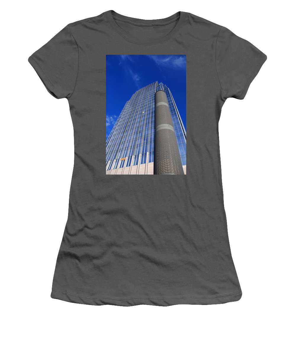 Glass Building Women's T-Shirt (Athletic Fit) featuring the photograph Modern Architecture II by Susanne Van Hulst