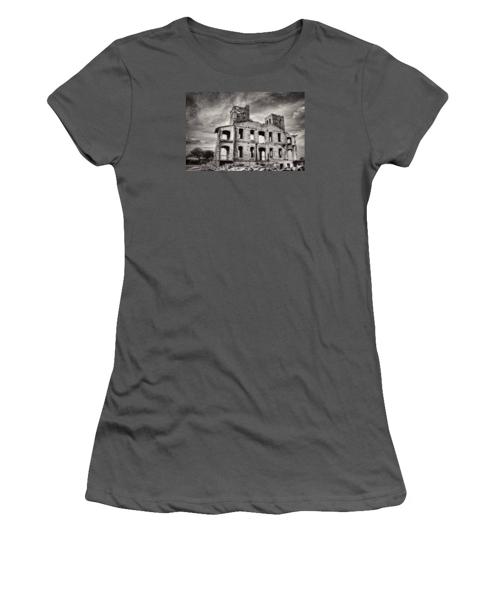Monsters Women's T-Shirt (Athletic Fit) featuring the photograph Monastery Memories by Sissy Schneiderman