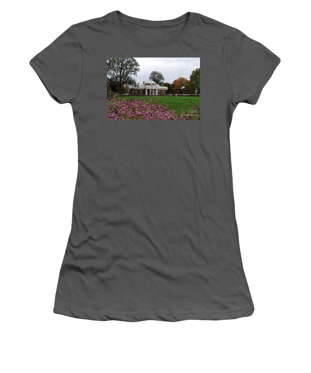 Fall Women's T-Shirt (Athletic Fit) featuring the photograph Monticello by Eric Liller