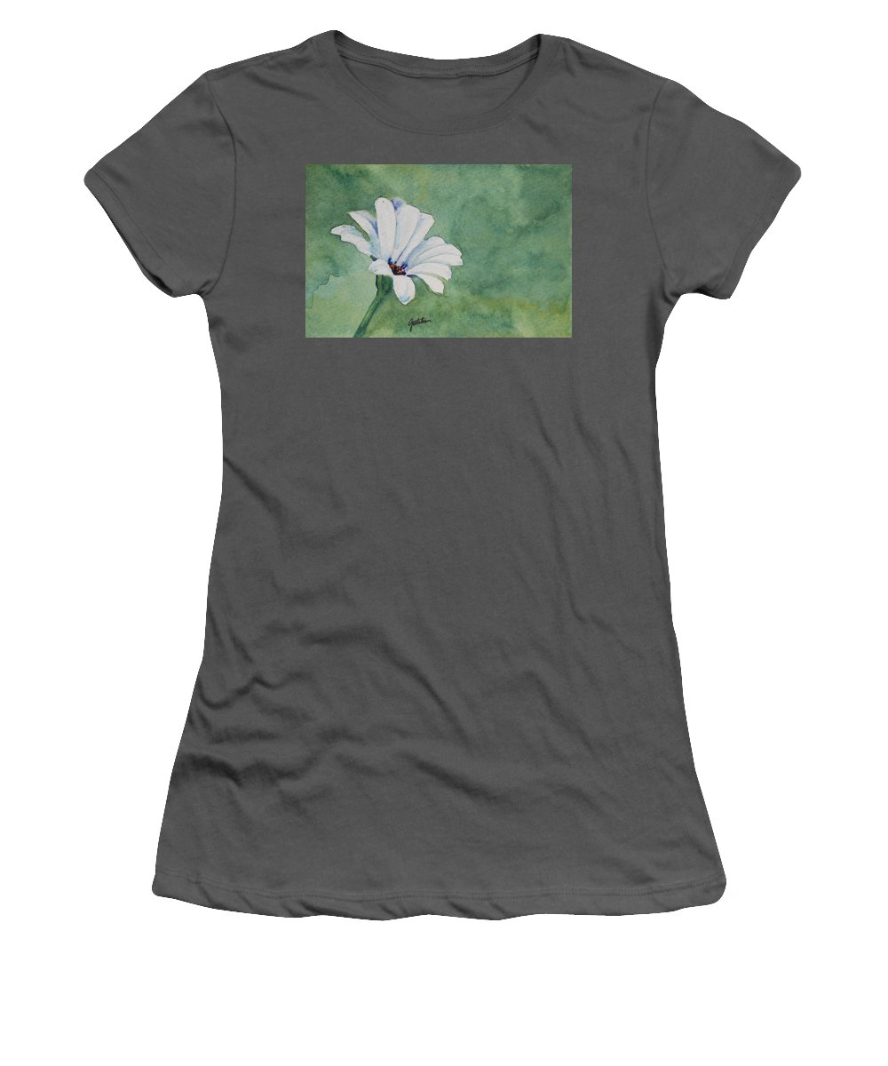 Flower Women's T-Shirt (Athletic Fit) featuring the painting Mood Flower II by Gretchen Bjornson