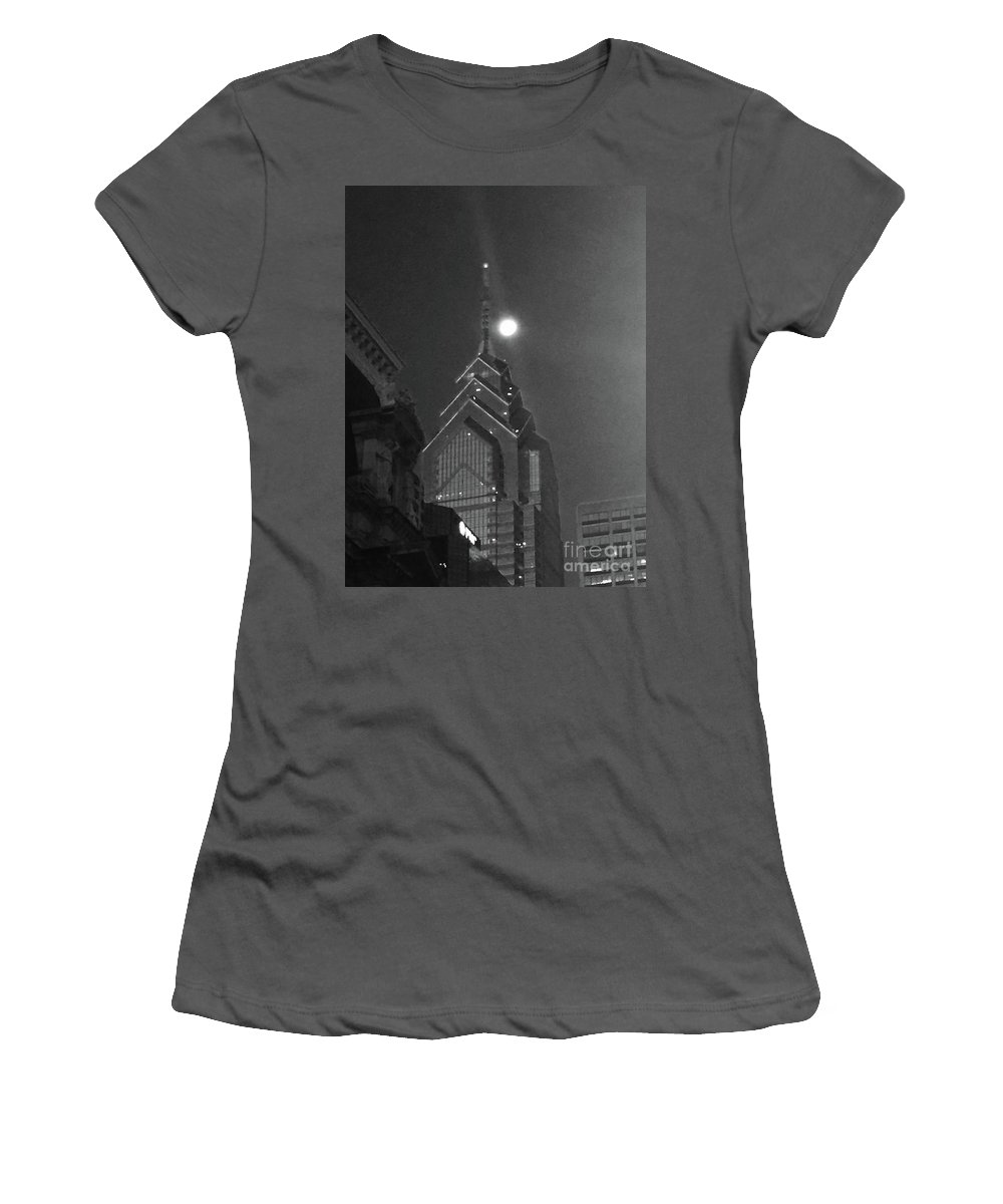 Moon Women's T-Shirt (Athletic Fit) featuring the photograph Moonlit View by Aurorah Kelevh