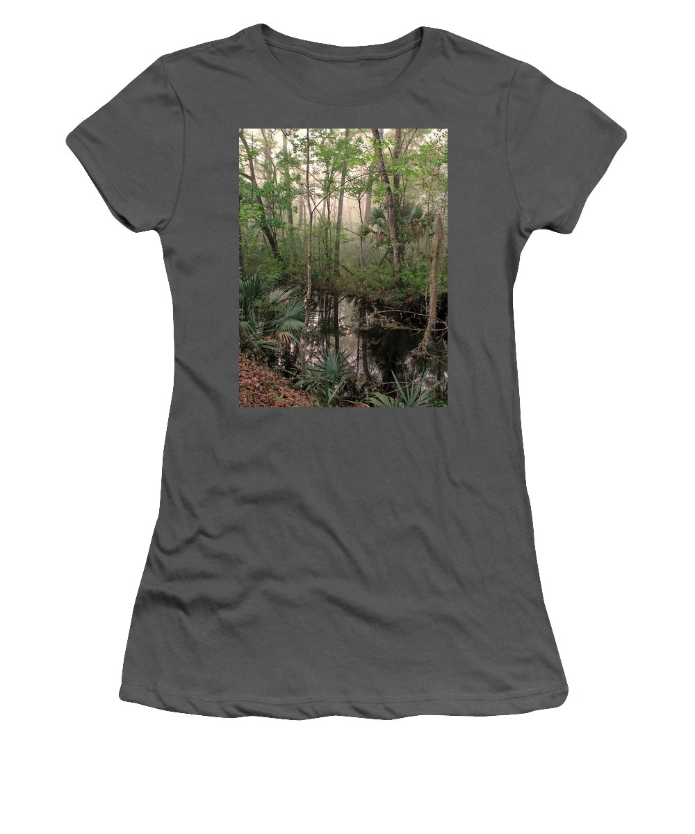 Nature Women's T-Shirt (Athletic Fit) featuring the photograph Morning Comes Softly by Peg Urban