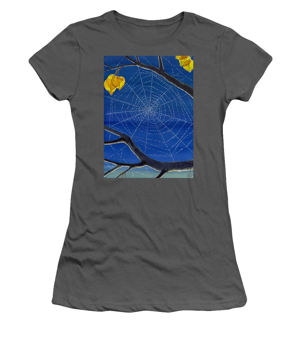 Aspen Women's T-Shirt (Athletic Fit) featuring the painting Morning Magic by Catherine G McElroy