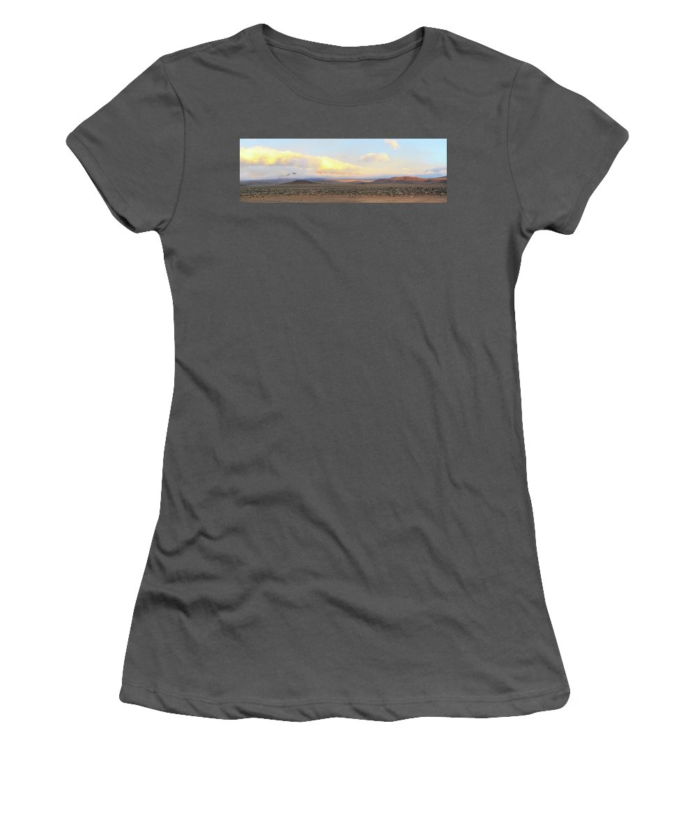 Death Valley National Park Women's T-Shirt (Athletic Fit) featuring the photograph Morning Sun by Wes Hanson